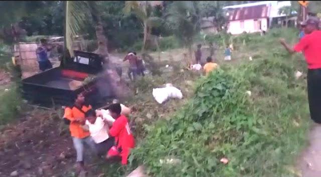 Mobil Pick Up Muat Belasan Orang Alami Kecelakaan di Arui Bab, 2 Meninggal Dunia