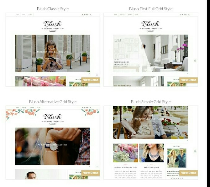 Blush Multipurpose Blogger Template Free Premium Version Download Free Blogger Theme 2020
