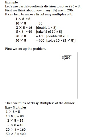 Mrs Sawins 4th Grade Class Partial Quotients Explanation