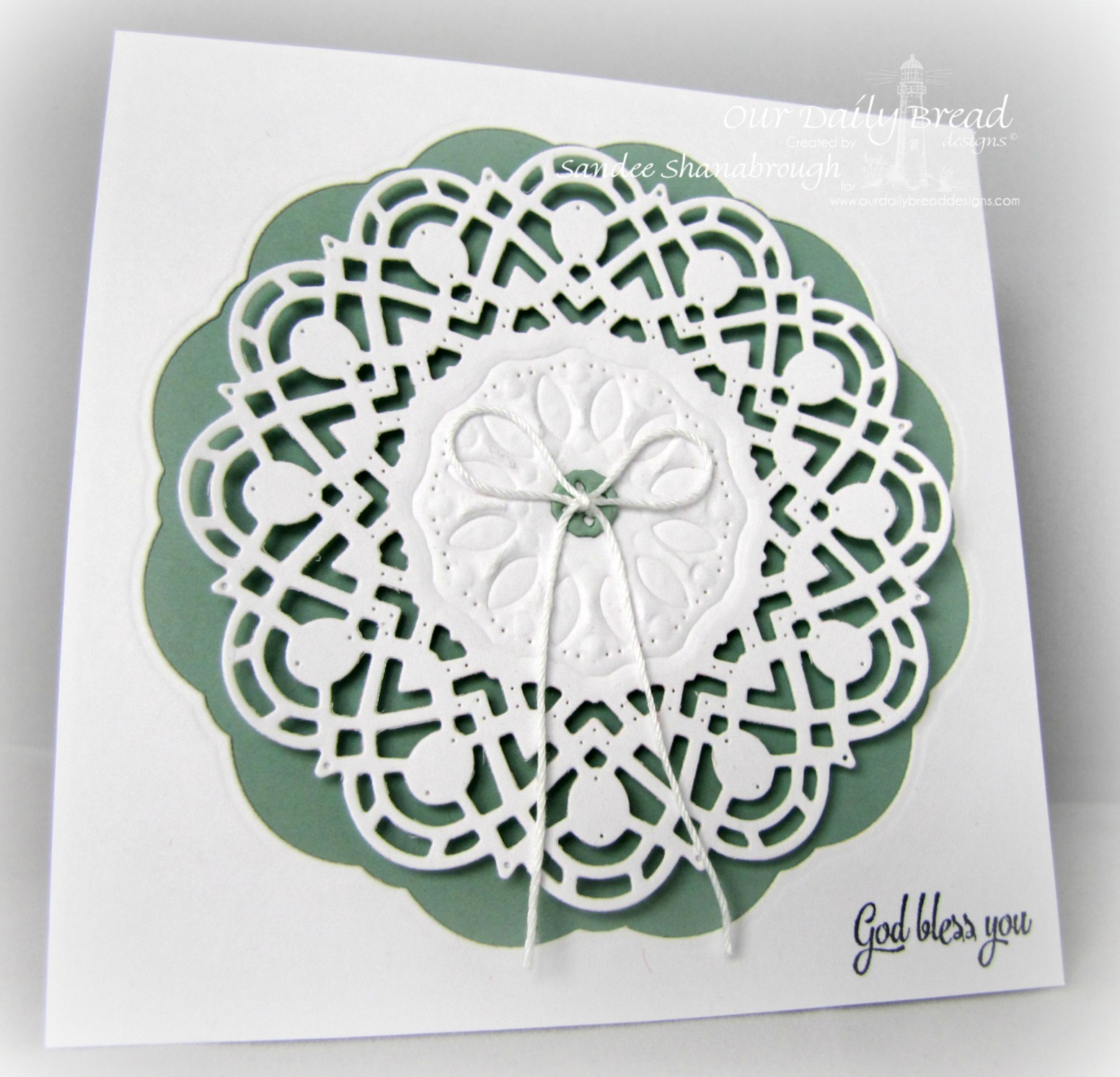Stamps - Our Daily Bread Designs Doily Blessings, ODBD Custom Doily Die