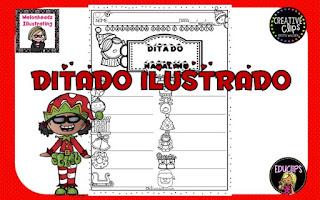Datas comemorativas, ditado, Natal, Símbolos do natal, sistema de escrita alfabética, Sondagem,
