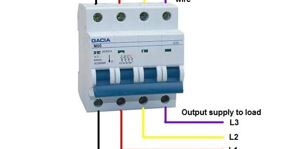 3 phase rcd wiring diagram 3 image wiring diagram 4 pole mcb breaker wiring in urdu electrical tutorials on 3 phase rcd wiring diagram