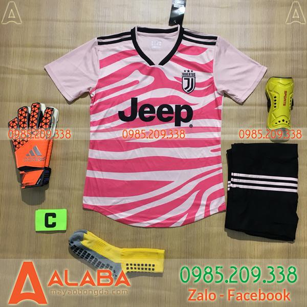 Áo Juventus 2020 Training 9 Màu Hồng