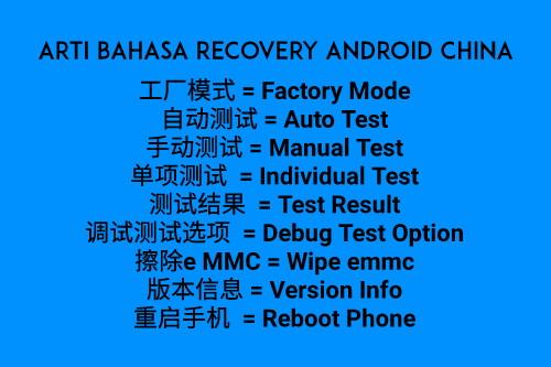 Arti bahasa recovery android china