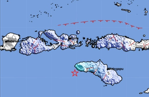 Warga Sumba Barat Daya Rasakan Gempa Kuat Sekitar 3 Detik