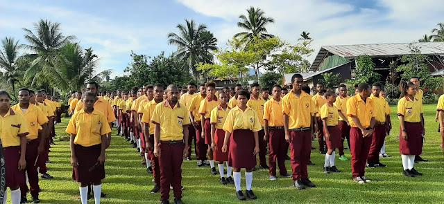 Students of Martyrs Secondary School in Papua New Guinea