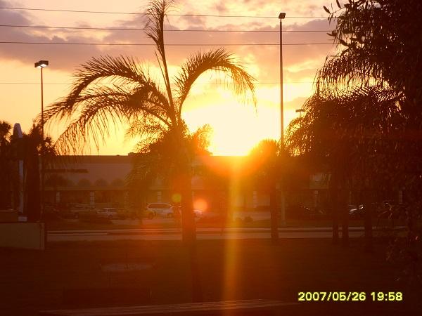 Blick auf den Sonnenuntergang in Englewood, Soutwest Florida
