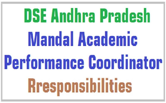 Mandal Academic Performance Coordinator,JOB Chart,duties,responsibilities