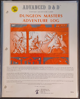 5th Printing AD&D GM Record Book