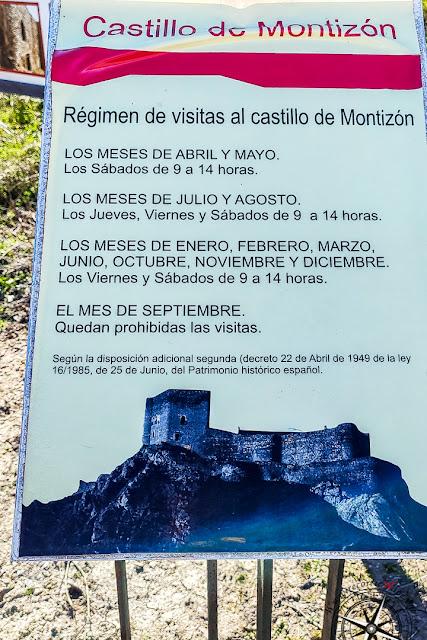 régimen de visitas al castillo de Montizón