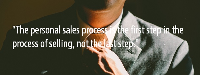 Personal sales process