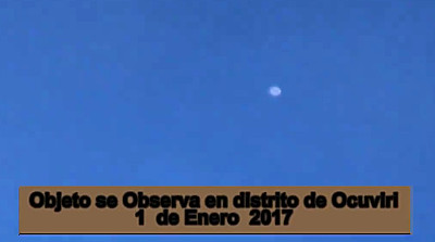 UFO Filmed Over the Ocuviri District, Perú 1-1-17