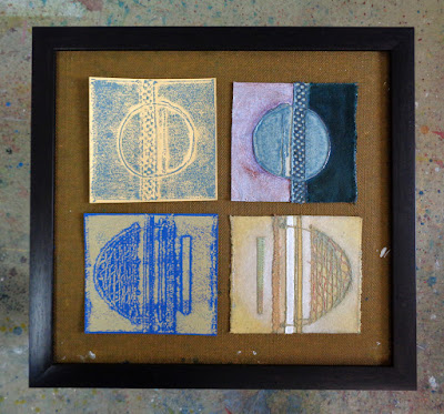 Fragile Planets - extra pieces of plates and prints, trying out some framing ideas