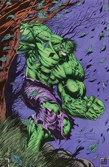 Hulk dibujado por Dale Keown