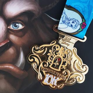 Medaille Princess Half Marathon 2017 10 km