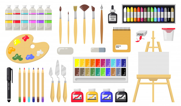 Media, Bahan, Alat, dan Teknik Menggambar Ragam Hias Seni Budaya Kelas VII