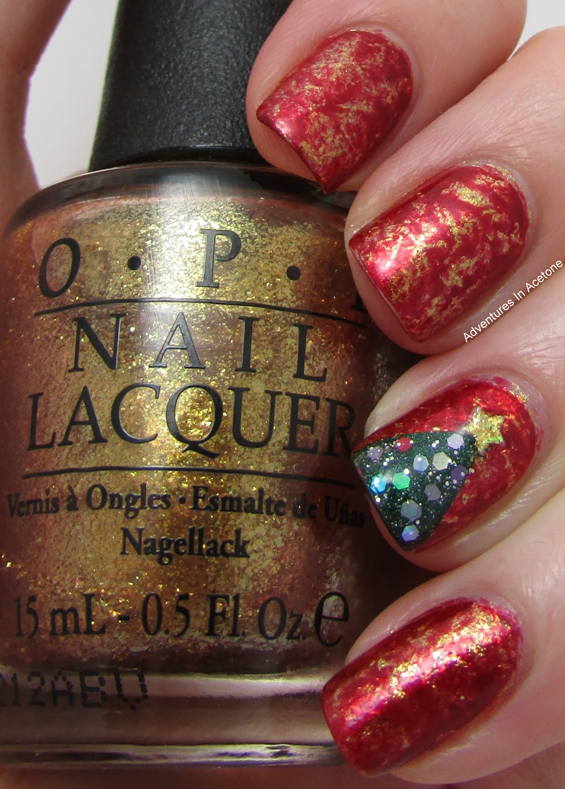 Holiday Saran Wrap Nails Adventures In Acetone