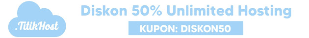 TitikHost - Diskon 50% Unlimited Hosting