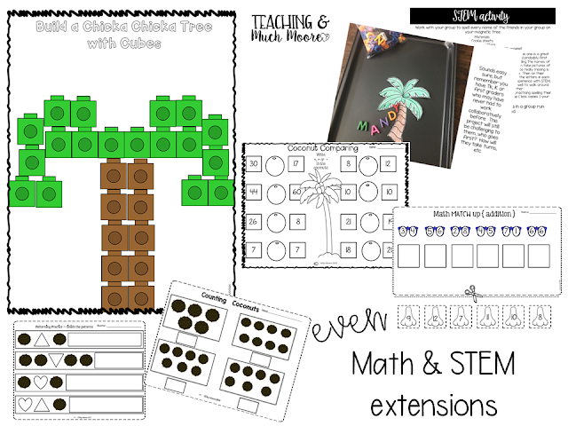 chicka chicka boom boom math and STEM activities