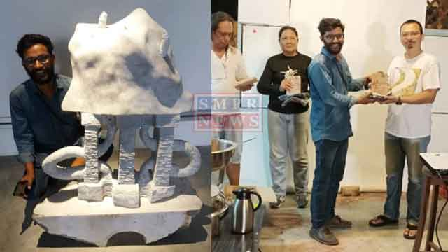 मूर्तिकार सुनील कुमावत मलेशिया में अंतर्राष्ट्रीय संगमरमर कला कार्यशाला में शामिल