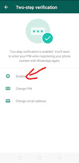 WhatsApp Two Step Verification Disable kaise kare