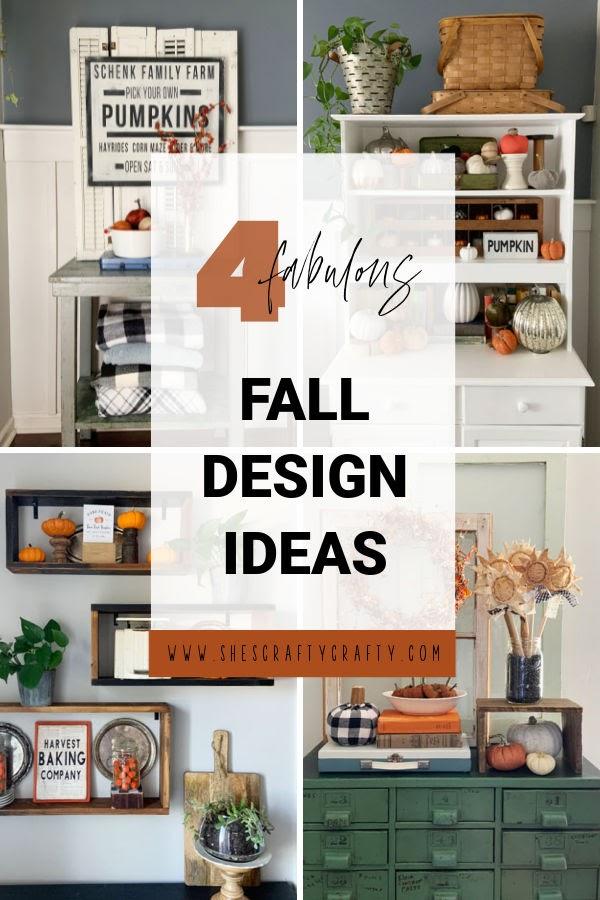 4 Fabulous Fall Design Ideas pinterest pin.