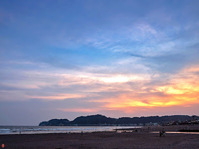 Summer sunset: Yuigahama-beach