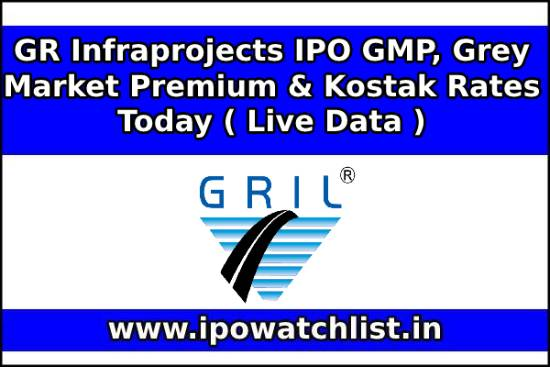 GR Infraprojects IPO GMP, Grey Market Premium & Kostak Rates Today ( Live Data )