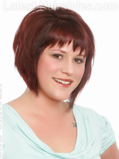 Hairstyle Bob Cut For Round Face Hairstyles For Women