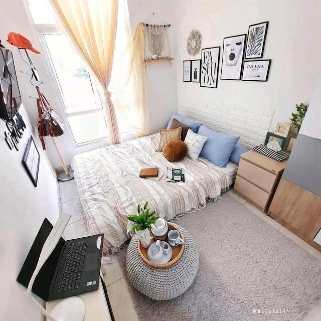 Desain Kamar Tidur Ukuran 3×3 Yang Sederhana dan Estetik