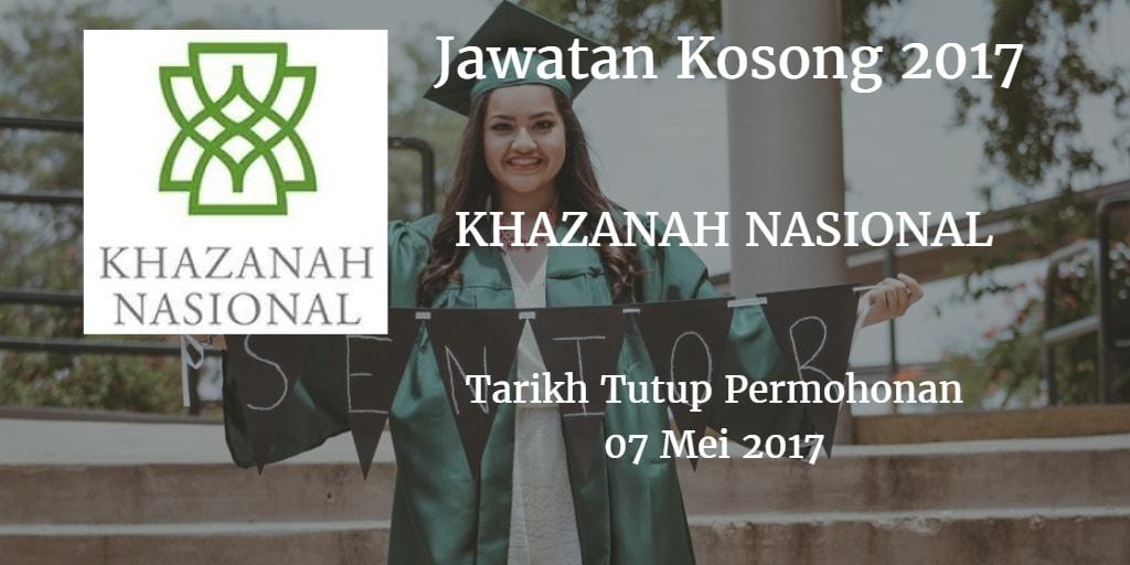 Jawatan Kosong KHAZANAH NASIONAL 07 Mei 2017