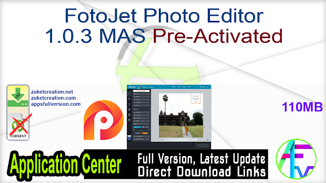 FotoJet Photo Editor 1.0.3 MAS Pre-Activated
