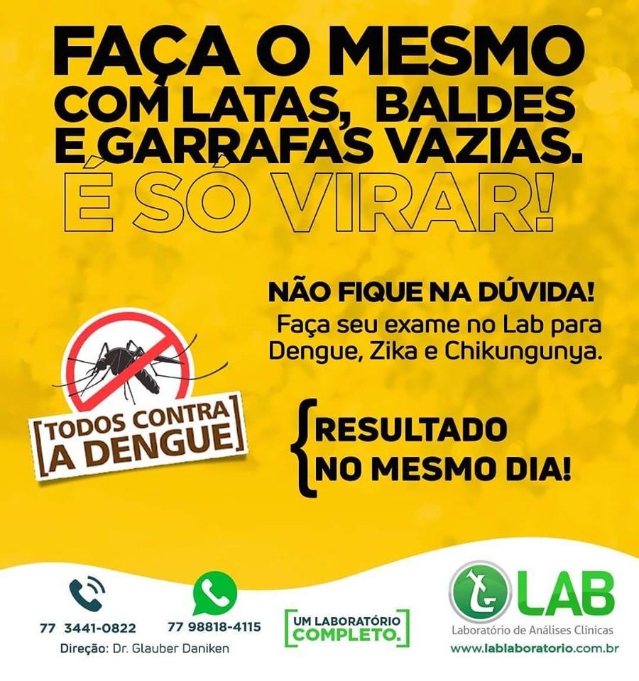 Laboratório LAB alerta sobre a prevenção da Dengue