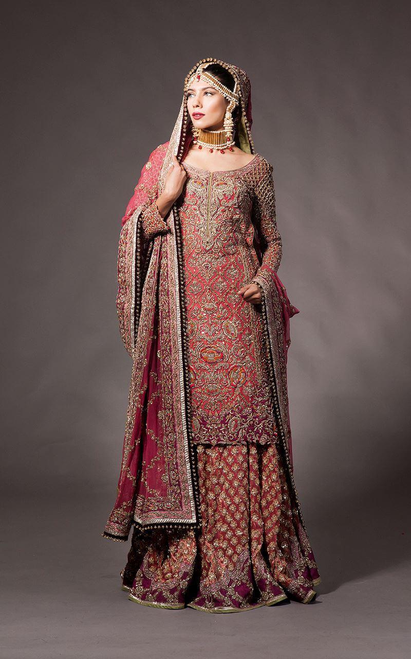 Fahad Hussayn Red Bridal Dress