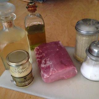 Lomo de cerdo con Mostaza, ingredientes