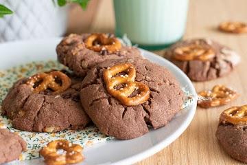 Cookies chocolat et bretzels