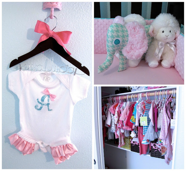 pink and aqua nursery decorations