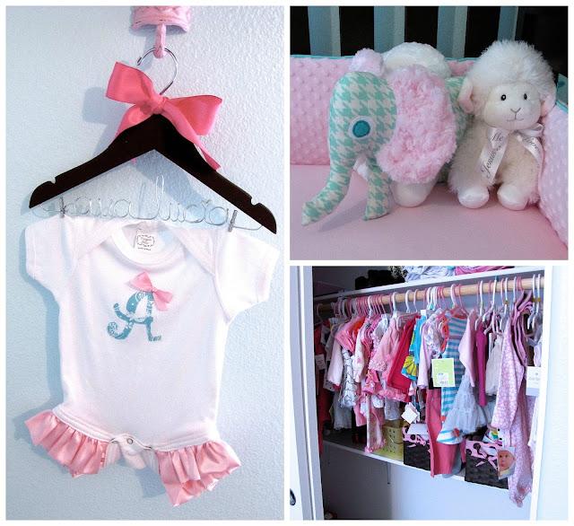 pink and aqua nursery decorations