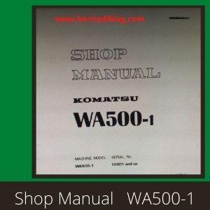 Komatsu wa500-1 shop manual wheel loader komatsu
