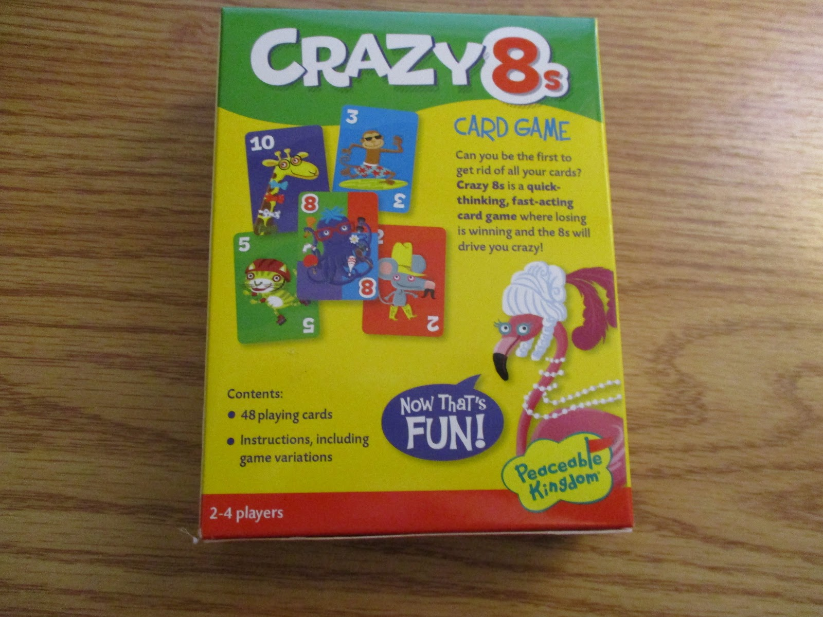 Missys Product Reviews Crazy 8s Card Twist From Peaceable Kingdom