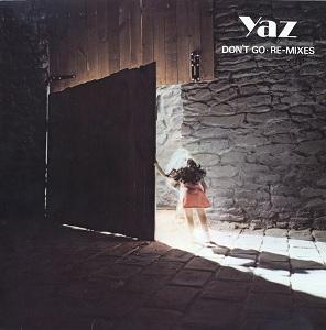 Portada del vinilo de los remixes de Don't Go de Yazoo (1982)