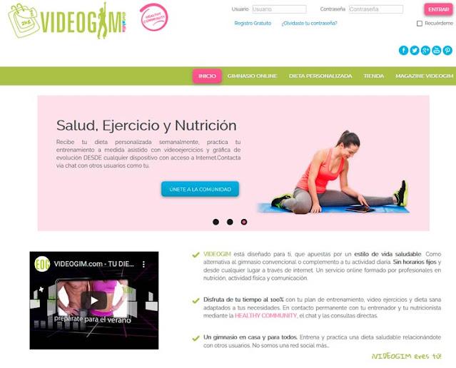 Página web de Videogim