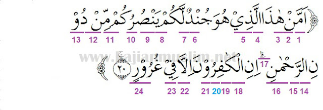 Hukum Tajwid Surat Al-Mulk Ayat 20