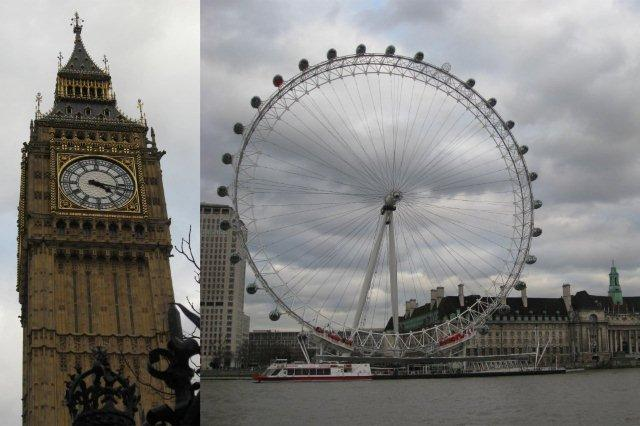Big Ben y The London Eye en Londres