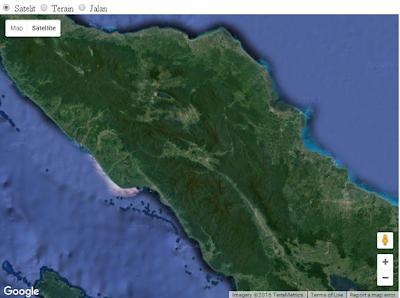 Menu pilihan untuk mengubah tampilan basemap google map