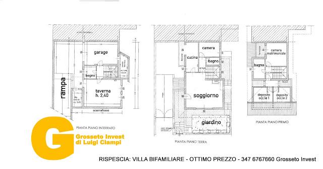 planimetria-villa-rispescia-biafamiliare-superprezzo, grosseto invest villa vendita, indipendente