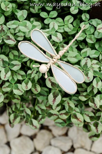 Blumenstecker Libellen aus Draht