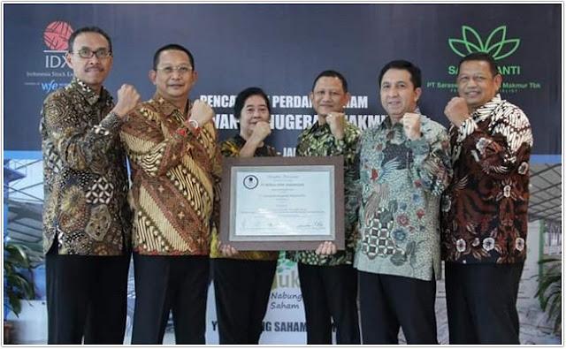 Sukses IPO PT Sarawanti Anugerah Makmur (SAMF) di Saaat Corona