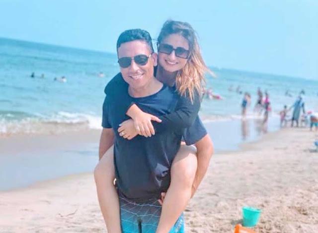 Anju Pant with Husband enjoying in Virginia Beach, Virginia