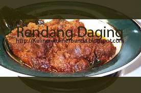 Resep Kuliner Rendang Daging Padang